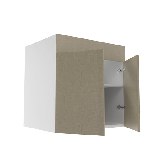 Frameless Fabric Grey  Double Door Sink Base Cabinet - 30