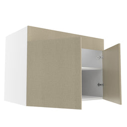 Frameless Fabric Grey  Double Door Sink Base Cabinet - 42