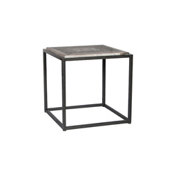 Winslow Marble Side Table, Grey, Contemporary Modern