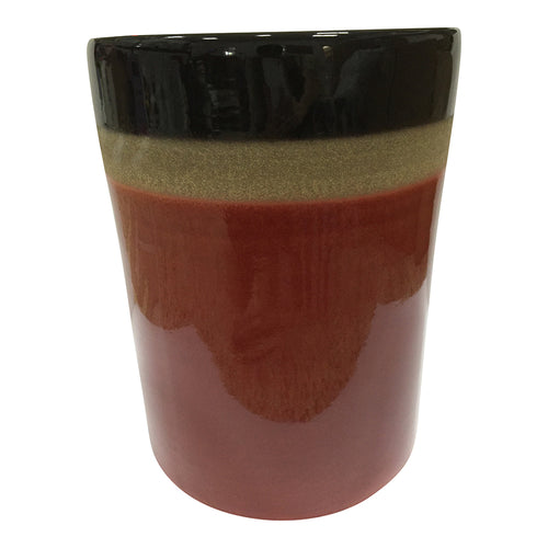 Contemporary Modern Strato Ceramic Stool  - Decorative Garden Red Stool