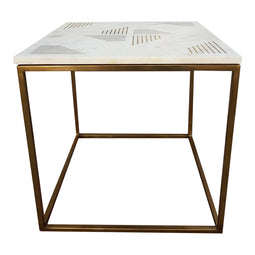 Quarry Side Table, White, Contemporary Modern