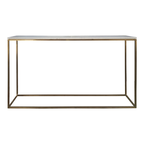 Modern Contemporary Quarry Marble Console Table For Hallway Entryway Living Room - Narrow Sofa table