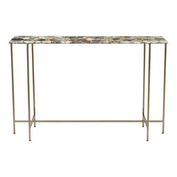Transitional Agate Console Table, Decoration Hallway Table For Lounge Or Foyer