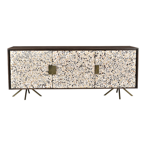 Contemporary Modern Candor Sideboard Buffet Server Kitchen Sideboard Storage Cabinet