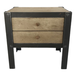 Bolt Sidetable W/2 Drawers Natural, Natural, Industrial