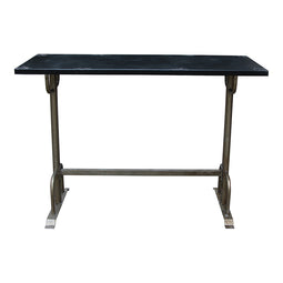 43 Inch H - Bar Table Pub Dining Height Table Black Sturdy Table - Industrial Kitchen Bar Table