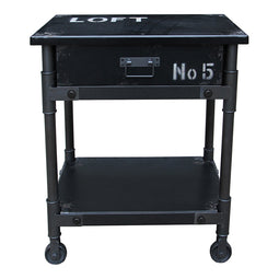 Soho 1 Drawer Cabinet Black, Industrial