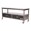 Load image into Gallery viewer, Soho TV Table Black Media Console Iron Frame | Moe's Home