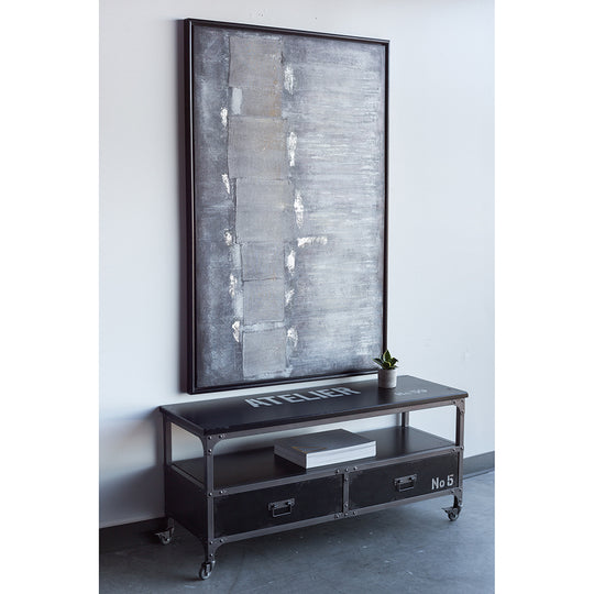 Soho TV Table Black Media Console Iron Frame | Moe's Home