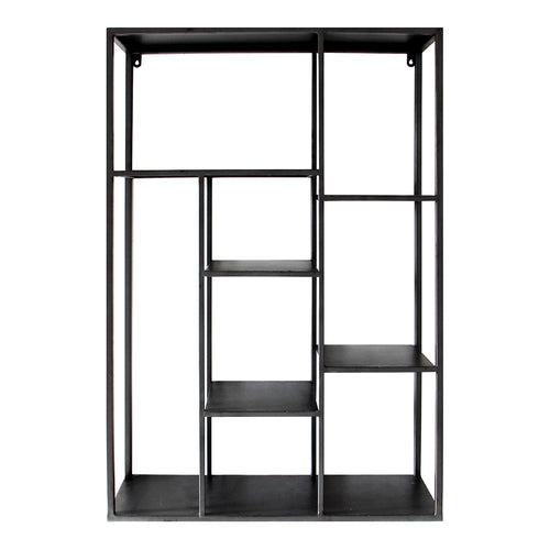 Marcia Wall Shelf Gun Metal - Cabinets & Storage | Moe's Furniture