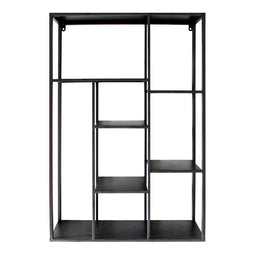 Marcia Wall Shelf, Gun Metal, Industrial