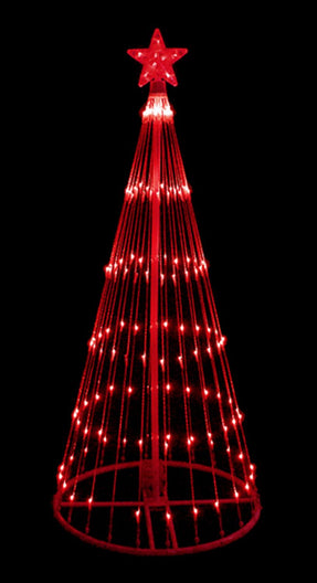 4' Red LED Lighted Show Cone Christmas Tree Outdoor Decoration