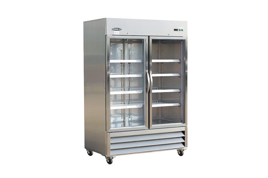 "IKON Series Refrigerator, reach-in, two-section, 53-9/10""W x 31-9/10""D x 82-7/10""H"