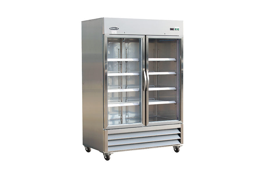 IKON Series Refrigerator, reach-in, two-section, 53-9/10