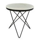 Load image into Gallery viewer, Haley Side Table Black Base, Black, Glam