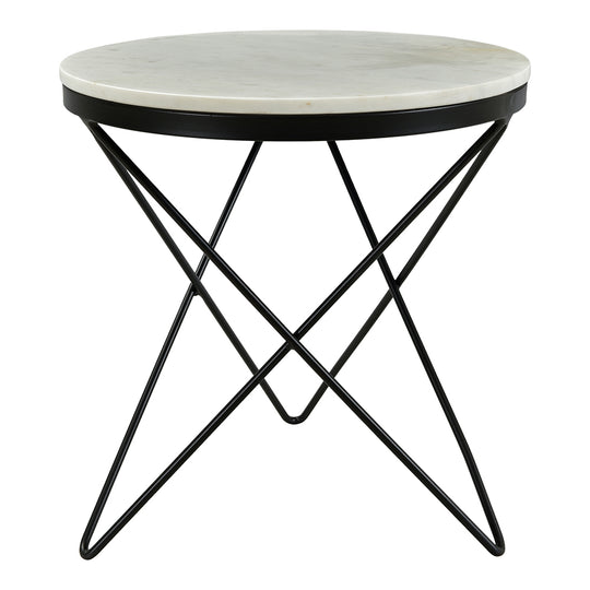 Haley Side Table Black Base, Black, Glam