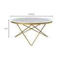 Load image into Gallery viewer, Glam Haley Coffee Table - Cafe Lounge Table - Marble Coffee Table - Meeting Table