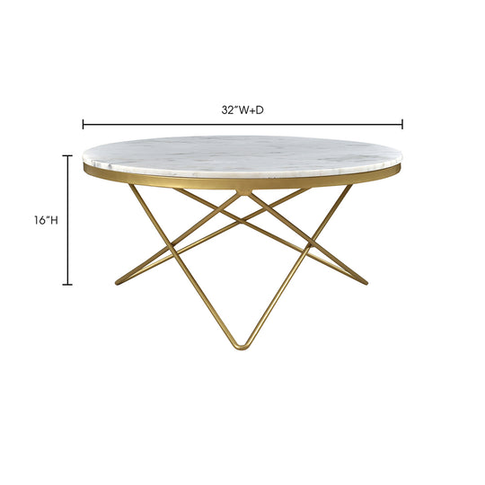Glam Haley Coffee Table - Cafe Lounge Table - Marble Coffee Table - Meeting Table