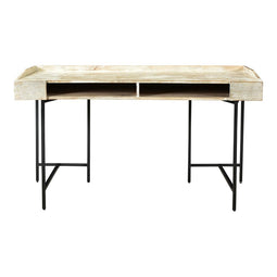 Kattan Desk, Industrial, White