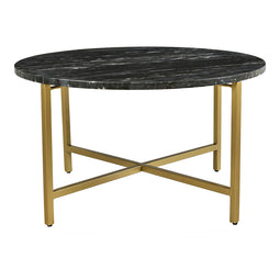 Contemporary Modern Haveli Marble Coffee Table - Round Cocktail Table