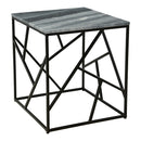 Load image into Gallery viewer, Lagom Marble Top Side End Table For Living Room With Geometric Iron Base Legs