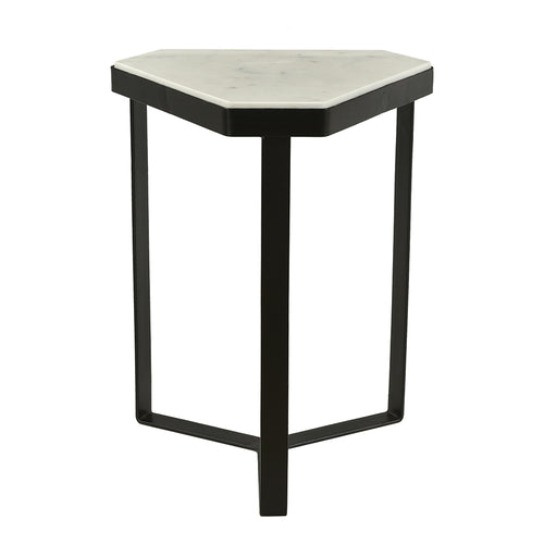 Modern Contemporary Inform Accent Table In Iron Frame Legs - Side Table - For Living Room - Bed Room