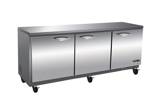 "IKON Series Undercounter Refrigerator, three-section, 71-7/10""W x 29-9/10""D x 35-1/2""H"