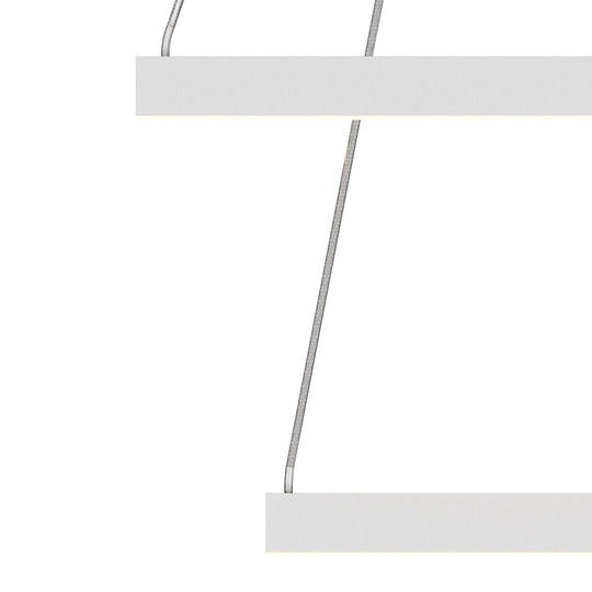 LED Pendant Light Fixture, Square, Double Ring, Dimmable, 3000K (Warm White) (P3111-53F)