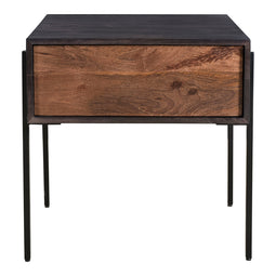 Tobin Side Table, Light Brown, Contemporary Modern