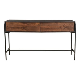 Modern Contemporary Tobin Sofa Console Table With 2 Drawers - Farmhouse Console Table