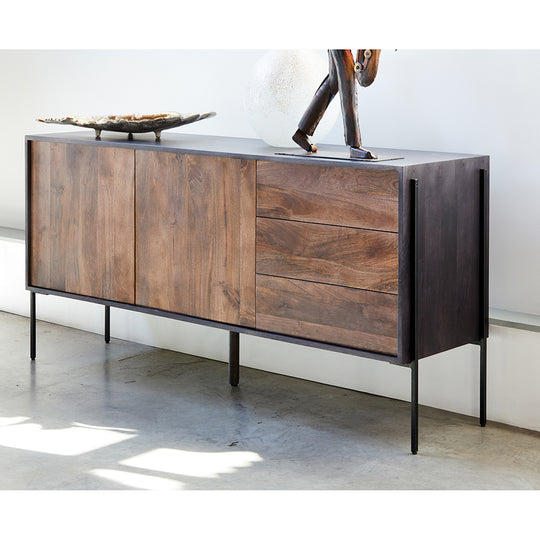 Contemporary Modern Tobin SIdeboard Cabinet - Buffet Table Kitchen Storage Cabinet