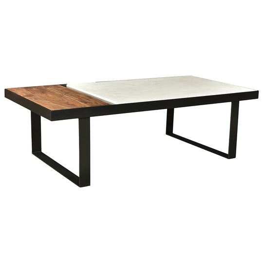Contemporary Modern Blox Marble Coffee Table - Sofa Entryway Table - Accent Table