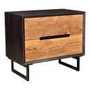 Load image into Gallery viewer, Modern Contemporary Vienna Nightstand In Solid Mango Wood End Tables - End Table With Storage In Light Brown