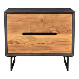 Modern Contemporary Vienna Nightstand In Solid Mango Wood End Tables - End Table With Storage In Light Brown