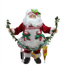 "Load image into Gallery viewer, 12"" Santa Claus Holding a Garland with Tootsie Candies Christmas Decoration"