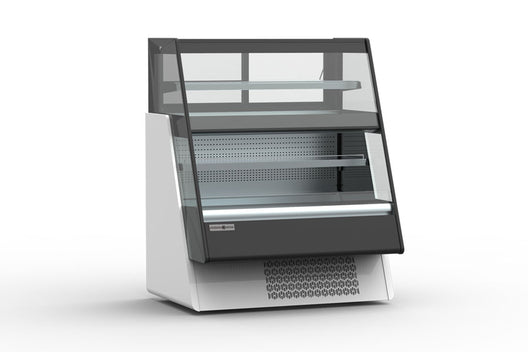Hydra-Kool Grab-N-Go Open Over-Under Merchandiser, self contained refrigeration, multiplexible