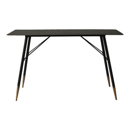 29.5 Inch H - Bruno Console Table Black - Industrial Sofa & Console Tables With Gold Tipped Legs