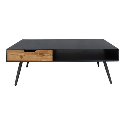 Milner Coffee Table, Black, Industrial