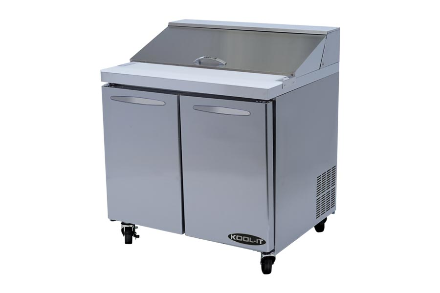 Kool-It Sandwich/Salad Prep Unit, two section, 9.2 cu.ft. capacity, 36-2/5-W x 30-D x 42-1/2-H