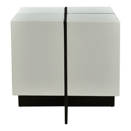 Prado Side Table, White, Contemporary Modern
