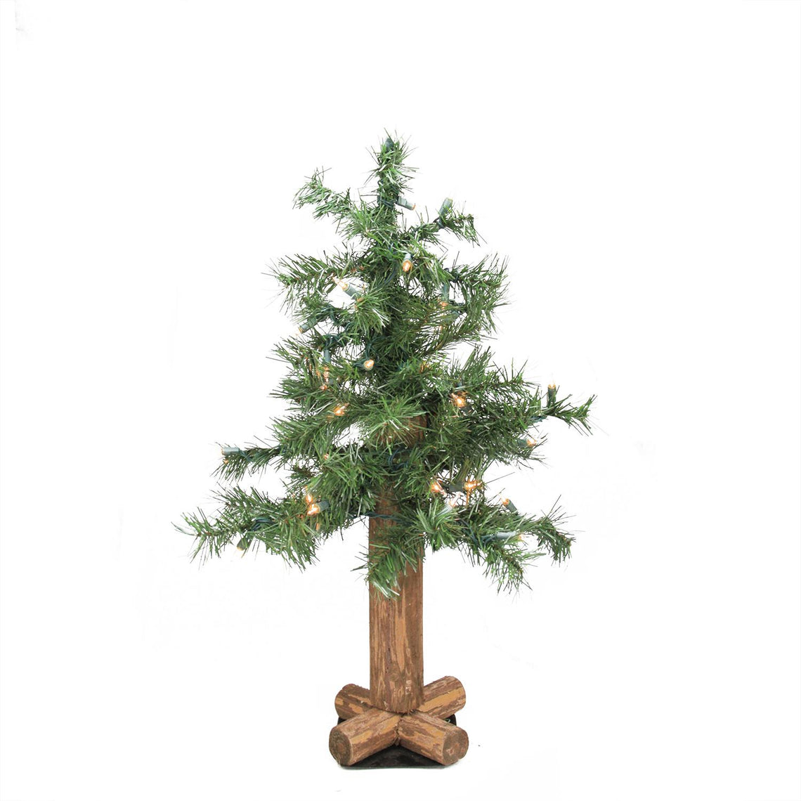 2' Pre-Lit Woodland Alpine Artificial Christmas Tree - Clear Lights