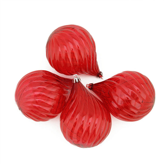 Transparent Finial Drop Shatterproof Christmas Ornaments In 4.5""