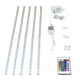 LED RGB Flexible Strip, 5x1M, 16W, With 24W Plug-in Driver and Remote