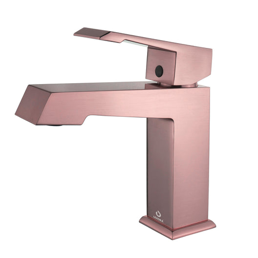 Labaro Brass Single Hole Bathroom Faucet - Rose Gold