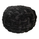 Load image into Gallery viewer, round velvet ottoman pouf With EPE Foam in Gray