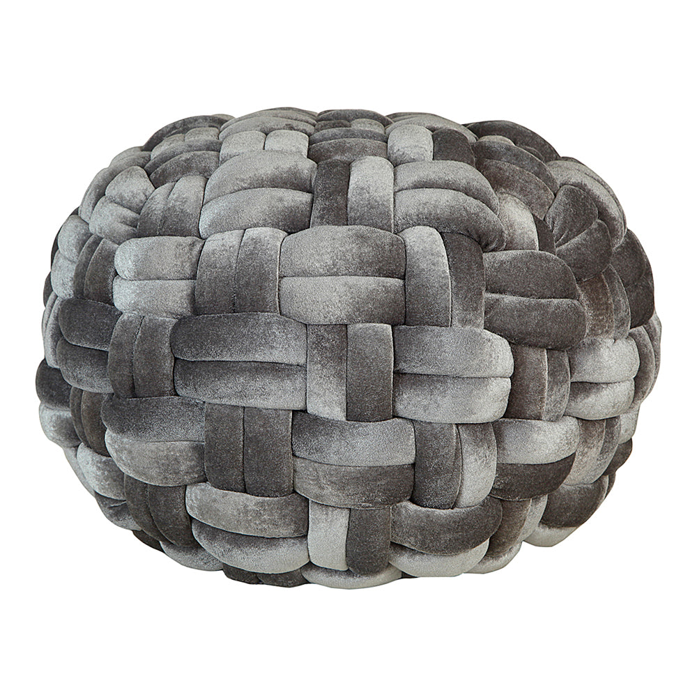 round velvet ottoman pouf With EPE Foam in Gray