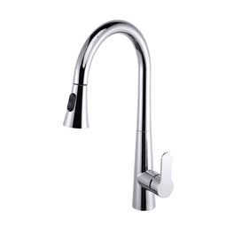 Furio Brass Kitchen Faucet w/ Pull Out Sprayer - Chrome
