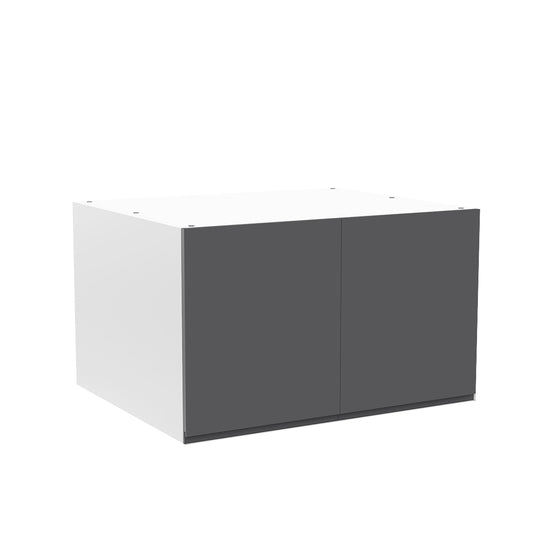 "30""W X 18""H X 24""D, Double Door Cabinet For Fridge - Lacqure Grey"