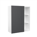 "Load image into Gallery viewer, Lacqure Grey Wood Blind Wall Cabinet 30""W X 36""H"