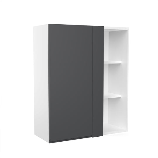 "Lacqure Grey Wood Blind Wall Cabinet 30""W X 36""H"